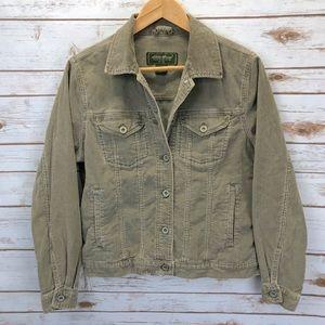 Eddie Bauer Olive Green Corduroy Jacket Sz S ::R3